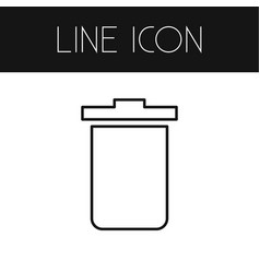 Isolated trash bin outline garbage container vector