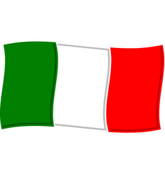 italian flag graphic vector image