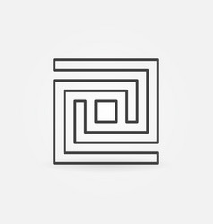 Labyrinth line icon vector