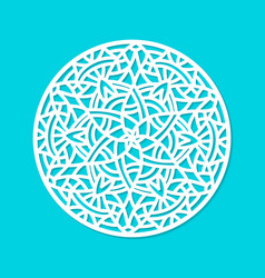 laser cut mandala ornament cutout pattern vector image