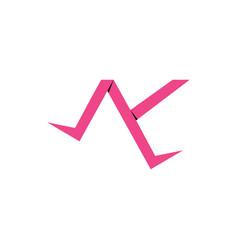 Letter ak 3d paper simple design logo vector
