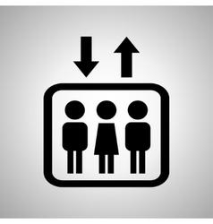 Lift or elevator symbol on a black background vector image
