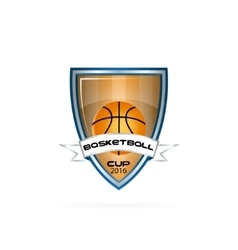 logo for a basketball team or a league vector image