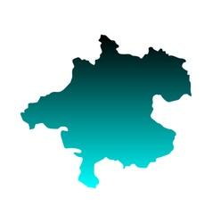 Map of Upper Austria vector image