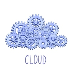 Mechanical gears cloud vector image