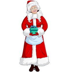 Mrs Santa Claus vector image