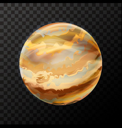 realistic jupiter with texture colorful planet on vector image
