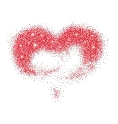 Red glitter heart vector image