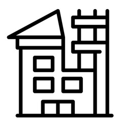 Rohouse reconstruction icon outline style vector