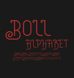 roll font alphabet vector image