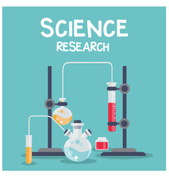 science research chemical laboratory blue backgrou vector image