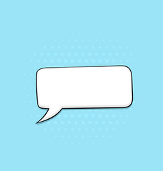 speech bubble on blue background pop art comic vector image