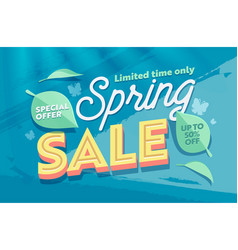 spring sale banner promotion discount advertising vector image