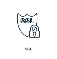 ssl icon thin outline style design from web vector image