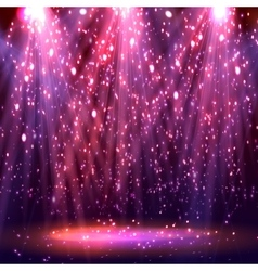 Stage spotlights abstract festive background vector image
