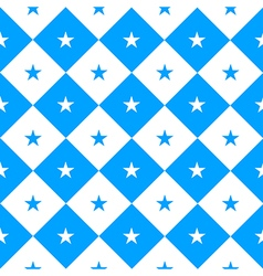 Star blue white chess board diamond background vector