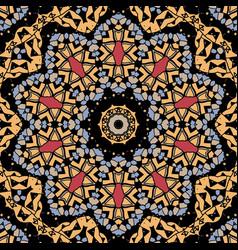 Stylized flower mandala like design of yellow vector