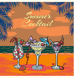 summer coctail party tropical vector image