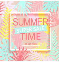 summer time super sale banner vector image