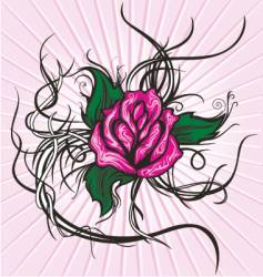 Tattoo tribal rose vector