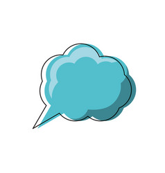 thinking cloud icon image vector image