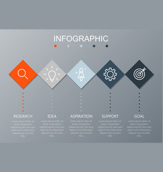 timeline infographics design template 5 options vector image