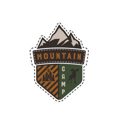 Traveling outdoor badge mountain camp camp vector