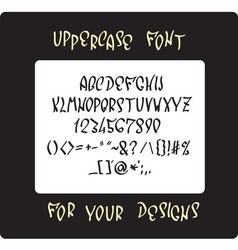 Uppercase font design vector