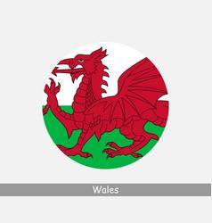 wales round circle flag vector image