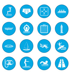 Water sport icon blue vector