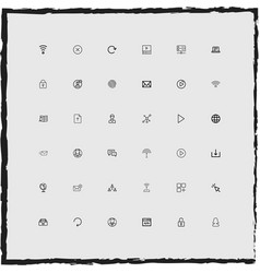 Web simple linear icons set vector