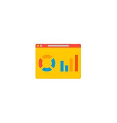 website analytics icon flat element vector image