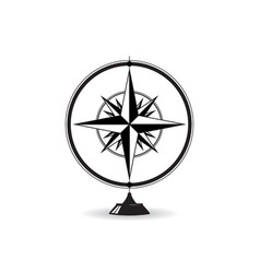 wind rose statue vector image