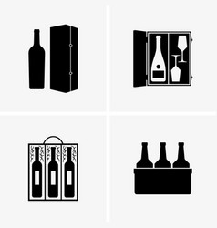wine gift boxes vector image