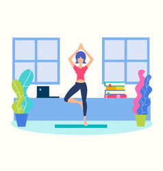 yoga home vector image