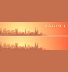 Zagreb beautiful skyline scenery banner vector