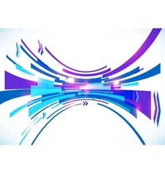 Blue perspective bow abstract background vector image