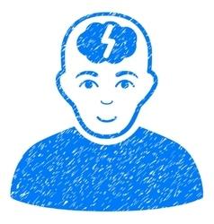 Clever Boy Grainy Texture Icon vector image