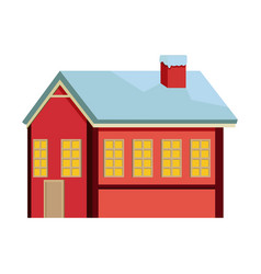 Cute sweet ginger house food christmas vector