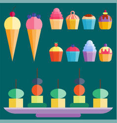 party cake food dessert sweet cream celebration vector image vector image