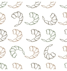 Shrimp seamless pattern vector image