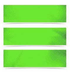 bright green old style pop art header flyer vector image vector image