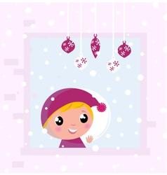 christmas child vector image