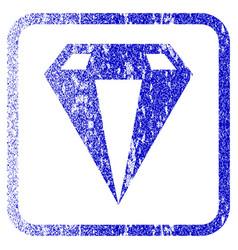 Diamond framed textured icon vector