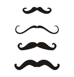 Set of curly vintage retro gentleman mustaches vector
