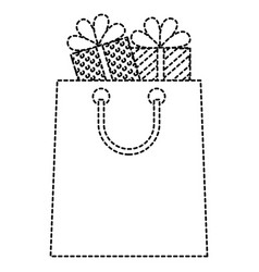 shopping bag with gifts vector image