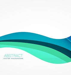 wave background design in blue color vector image vector image