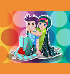 young couple vector image vector image
