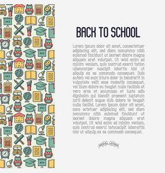 Back to school concept contains seamless pattern vector