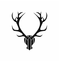 Deer antler icon simple style vector image vector image